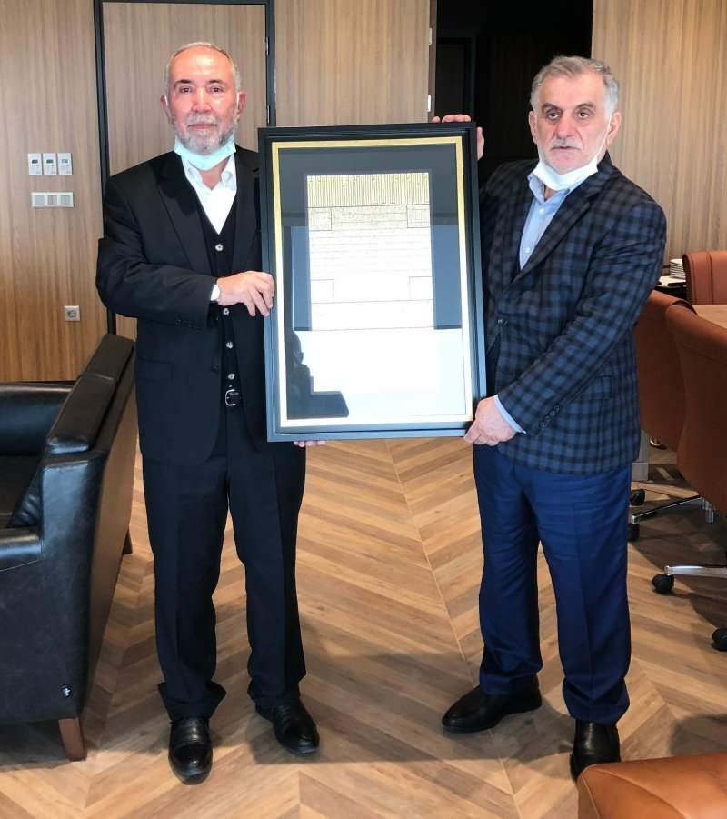 Kanal 7 Medya Grubu Başkanı Zekeriya Karaman ve Albayrak Holding Yönetim Kurulu Başkanı Ahmet Albayrak