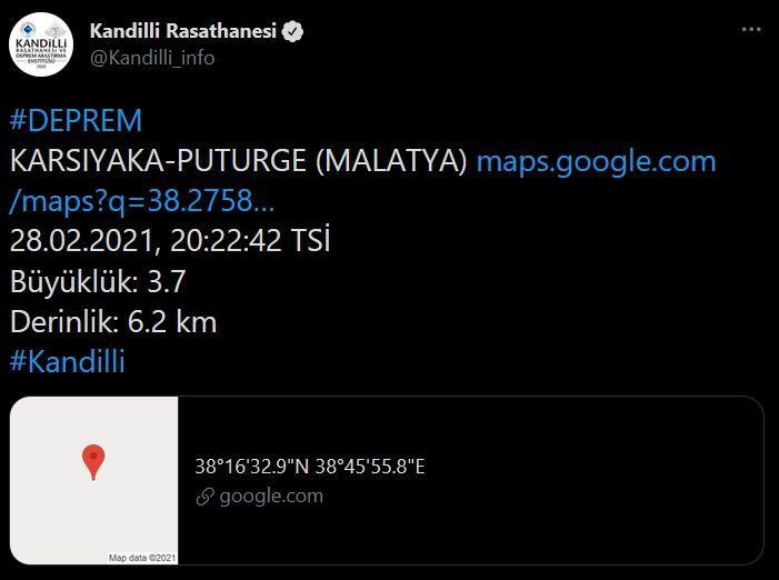 Malatya, deprem