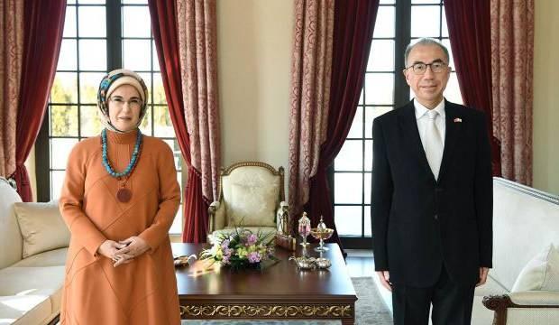 Emine Erdoğan, Japonya'nın Ankara Büyükelçisi ile görüştü
