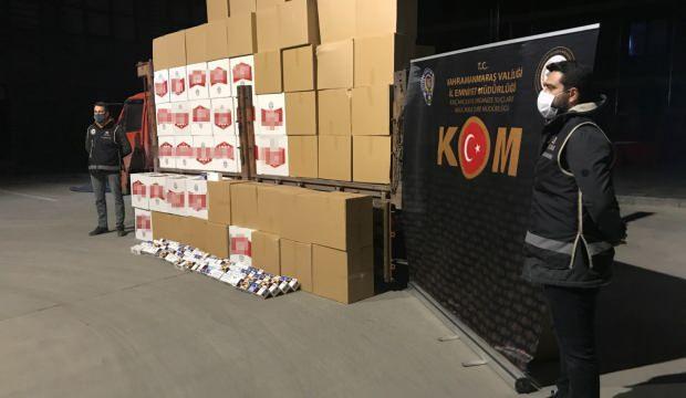 Kahramanmaraş'ta 2 milyon makaron ele geçirildi