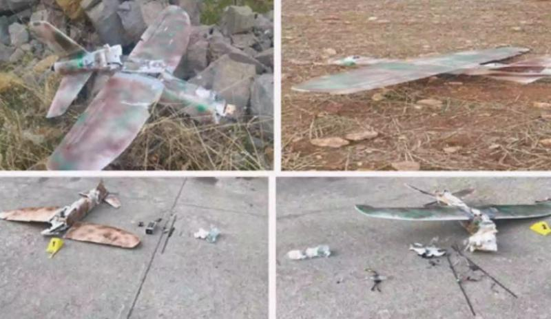 Hakkari'de yakalanan PKK drone'ları raporda yer aldı.