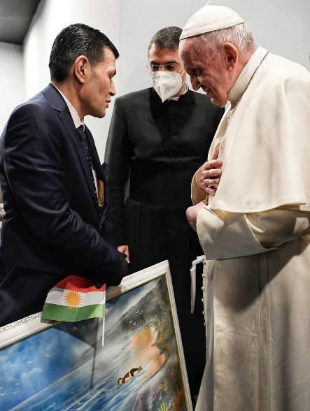 Aylan Kurdi'nin babası ve Papa Franciscus