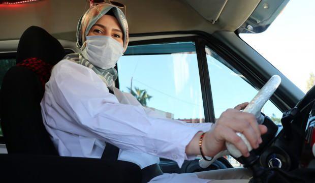 Dolmuş şoförü kadın! Baba mesleğini sürdürüyor