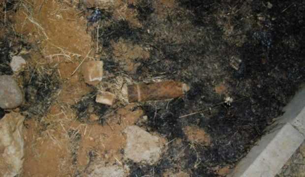 Evin bahçesinde Kurtuluş Savaşı'ndan kalan top mermisi bulundu