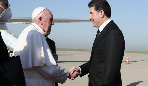 Papa, Erbil'de IKBY Başkanı Neçirvan Barzani ile görüştü