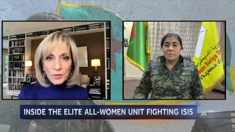 YPJ'nin sözde lideri TV'ye yayına bağlanıp röportaj verdi.