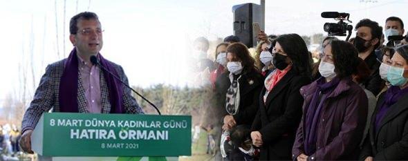 İBB'nin hatıra ormanı fidan dikim törenine Pervin Buldan da katıldı.