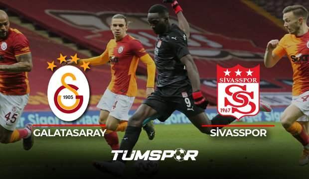 Galatasaray Sivasspor maçı geniş özeti ve golleri (BeIN Sports) | Yiğido'dan Aslan'a çelme!