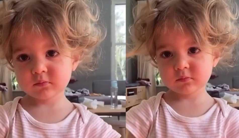 """Pelin Akil'in ikizlerinden Lina'nın """"Kucak isteme"""" videosu"""