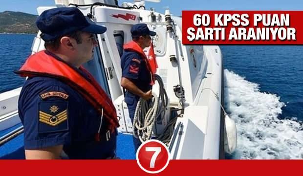 KPSS 60 puan ile Astsubay alım! Sahil Güvenlik Komutanlığı başvurular için son 2 gün!