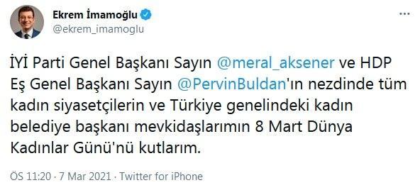 CHP'li Ekrem İmamoğlu'ndan tepki çeken 'Pervin Buldan' paylaşımı! - GÜNCEL Haberleri