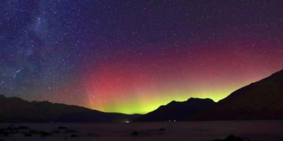 Yeni Zelanda'daki muhteşem Güney Işıkları