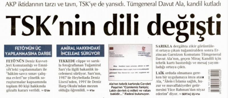 TSK'nın dili değişti - Cumhuriyet Gazetesi