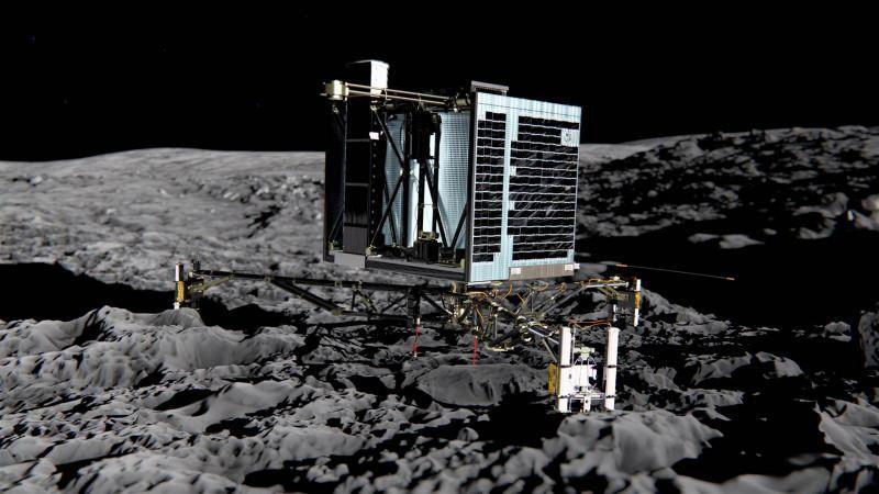 Philae uzay aracı- Philae, 12 Kasım 2014 tarihinde 67P/Churyumov–Gerasimenko kuyrukluyıldızına inerek bir kuyrukluyıldıza inen ilk uzay aracı oldu.