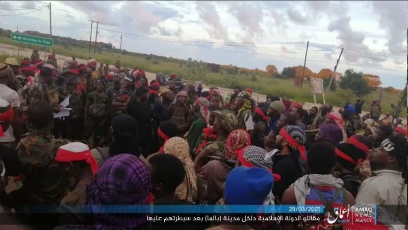 Örgüt sözde haber ajansı üzerinden bölgeden görüntüler paylaştı.