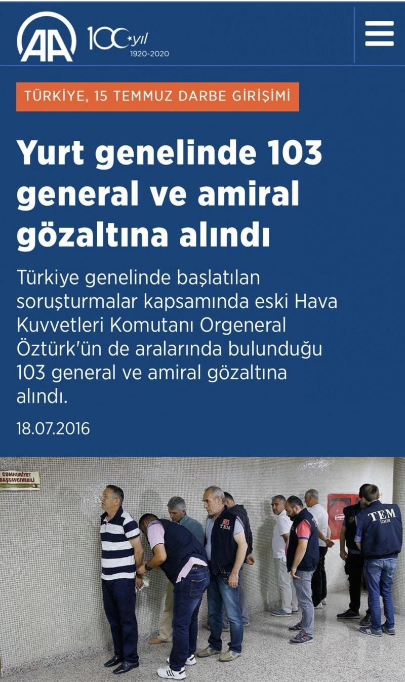 Yurt genelinde 103 general ve amiral gözaltına alındı