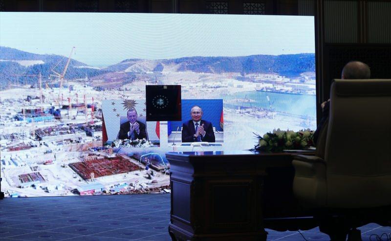 Cumhurbaşkanı Recep Tayyip Erdoğan ve Rusya Federasyonu Devlet Başkanı Vladimir Putin geçtiğimiz ay Akkuyu Nükleer Güç Santrali'nin Üçüncü Ünitesinin Temel Atma Töreni'ne video konferans yöntemiyle katılmışlardı