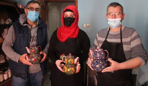 Kütahya'da sıra dışı çaydanlıklar yurtdışından yoğun ilgi görüyor!