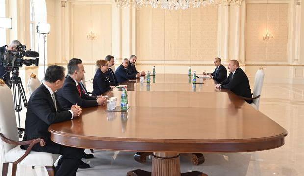 Bakan Pekcan, Azerbaycan Cumhurbaşkanı Aliyev tarafından kabul edildi