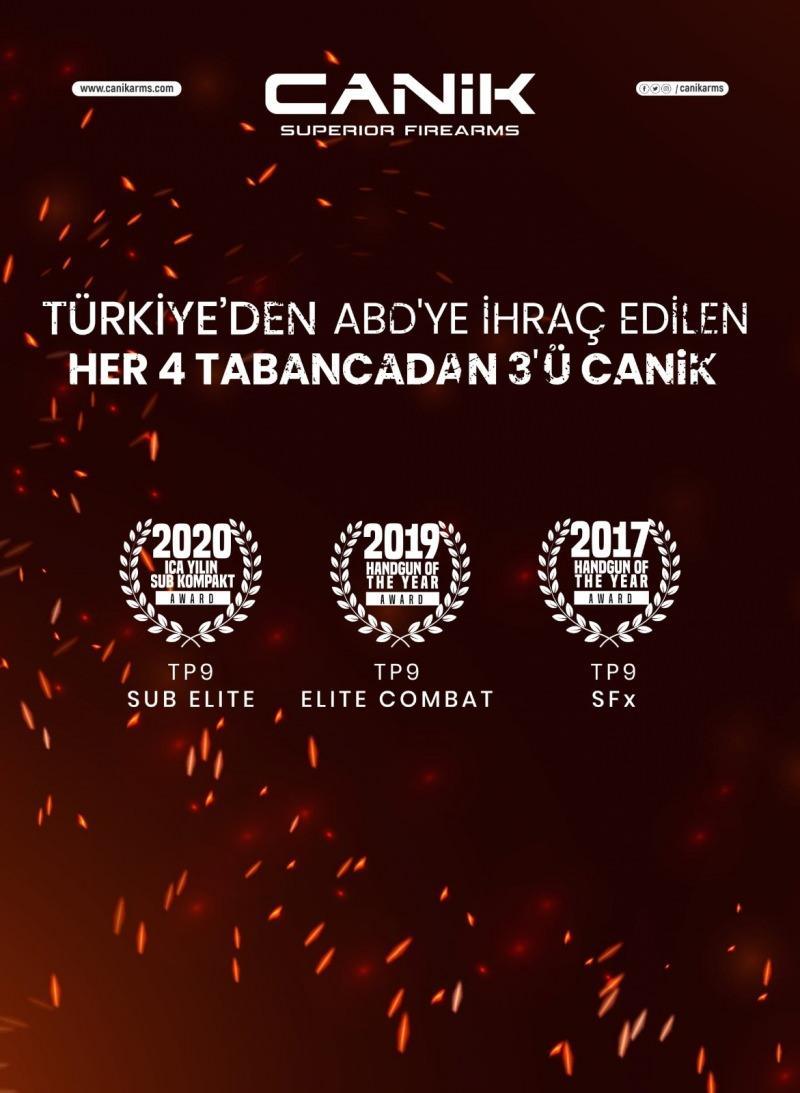 ABD'de satılan her 4 silahtan 3'ü Türkiye üretimi