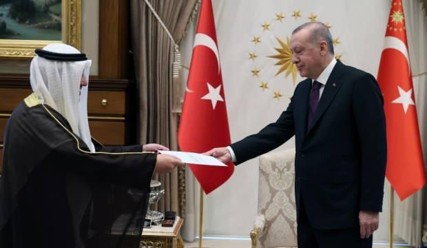Cumhurbaşkanı Erdoğan, Kuveyt Dışişleri Bakanı El Sabah'ı kabul etti