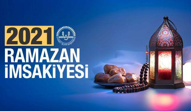 Ramazan İmsakiye 2021- Diyanet 81 İl 30 günlük iftar saatleri ve sahur vakti