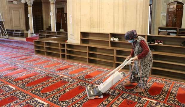 Selimiye Camisi'nde ramazan öncesi temizlik ve düzenleme çalışması yapıldı