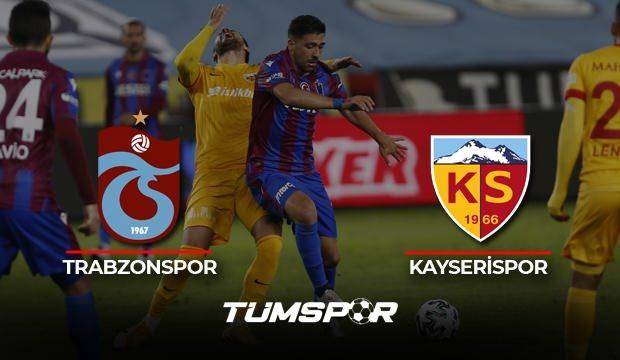 Trabzonspor Kayserispor maçı geniş özeti ve golleri! (BeIN Sports) Fırtına evinde esemedi!