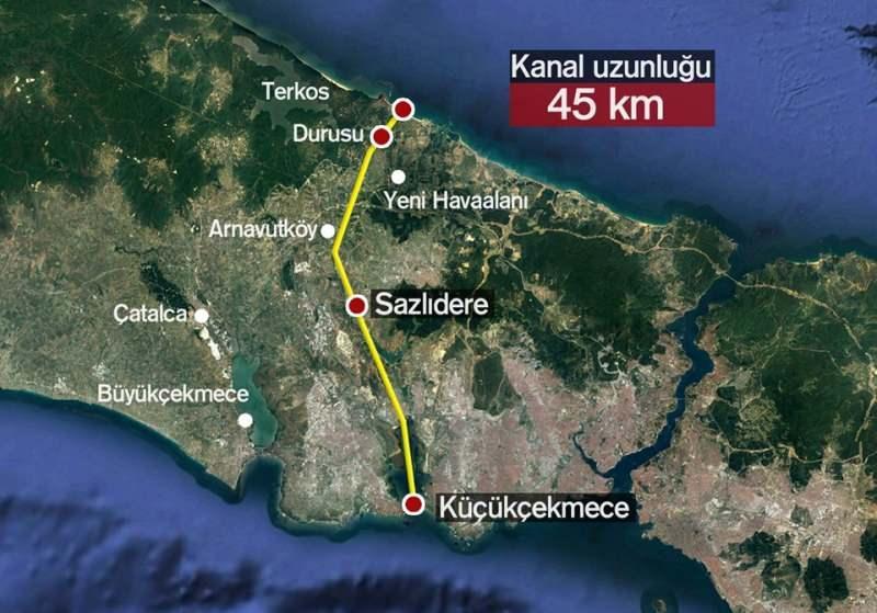 Kanal İstanbul Projesi'nin güzergahı belli oldu