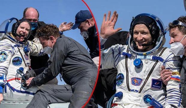 Rusya ve ABD uzaydan birlikte döndü