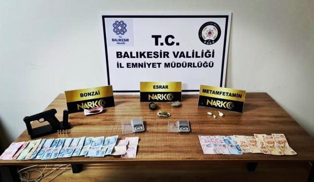 Balıkesir'de narkotik operasyonu: Son 1 haftada 77 gözaltı