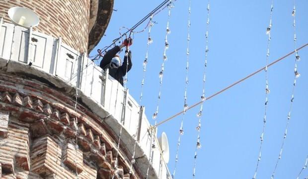 Bursa Ulu Cami'ye Ramazan mahyası asıldı