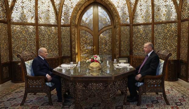 Cumhurbaşkanı Erdoğan ve Devlet Bahçeli iftarda buluştu