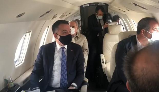 Son dakika... Bakan Pakdemirli'nin uçağı arızalandı