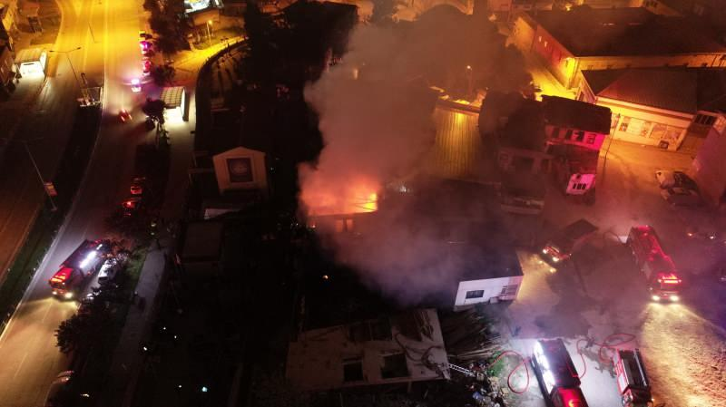 Historic building in danger of collapsing goes up in flames
