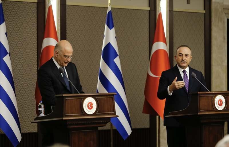 Çavuşoğlu ve Dendias, ortak basın toplantısı düzenledi.