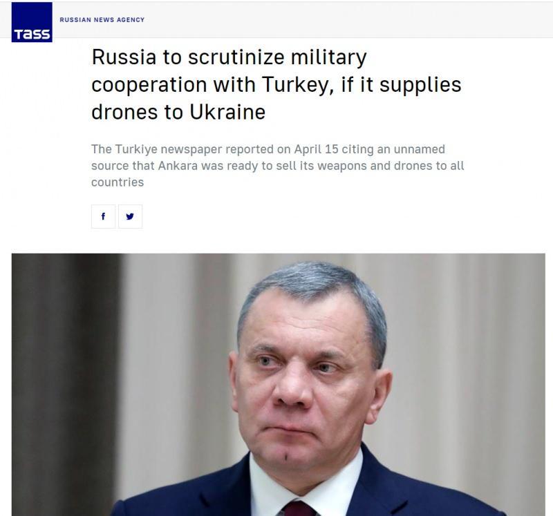 Son dakika haberleri: Rusya'nın Türkiye'ye SİHA tehdidi, Rus haber ajansı TASS'ta yayımlandı.