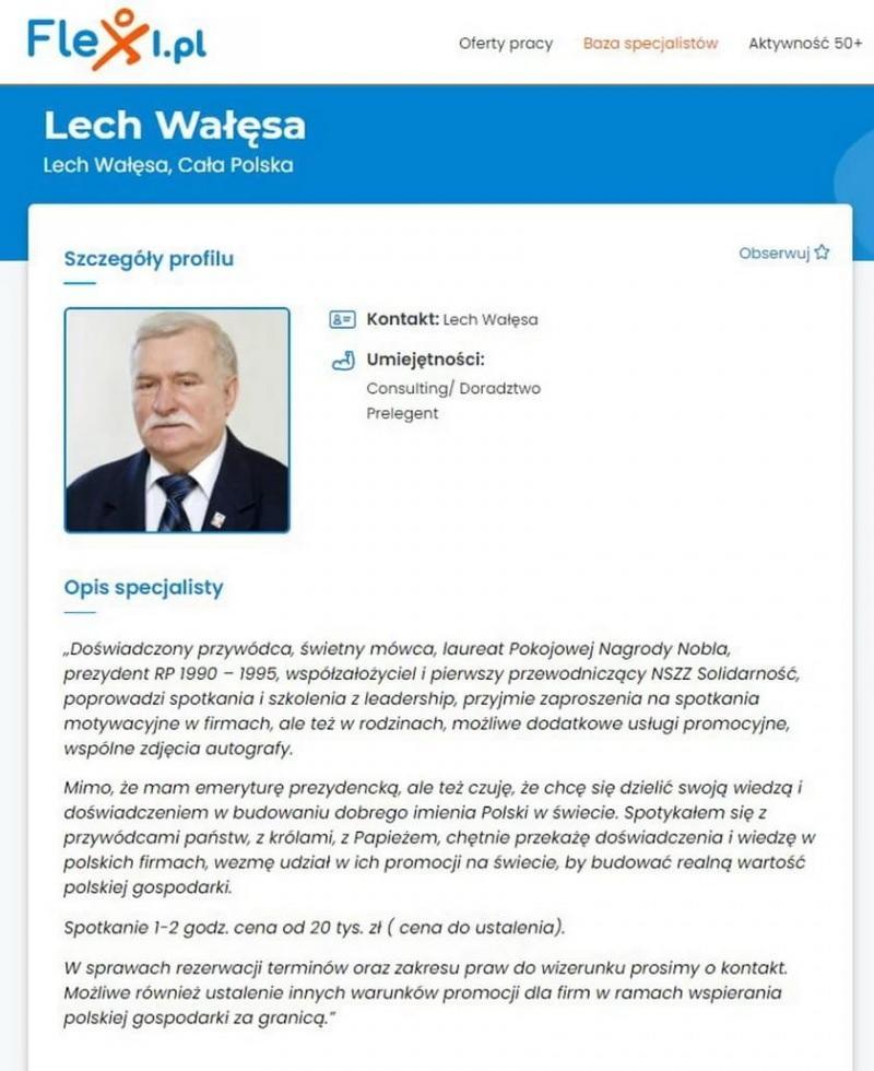 Polonya'nın eski Cumhurbaşkanı Walesa, internette iş arıyor