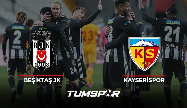 Beşiktaş Kayserispor maçının geniş özeti ve golleri (BeIN Sports) Kara Kartal evinde galip!