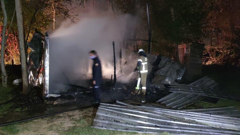 Bursa barracks fire extinguished