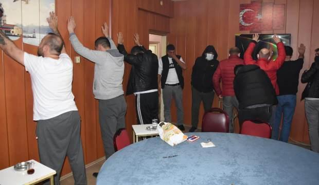 Polisten kumar baskını: 13 kişiye 41 bin lira ceza