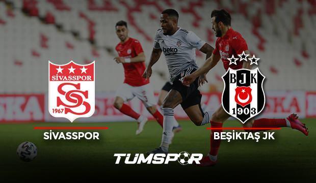 Sivasspor Beşiktaş maçı geniş özeti ve golleri (BeIN Sports) Kara Kartal deplasmanda yaralandı!