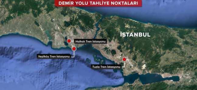 İstanbul deprem tahliye planı - Demir yolu