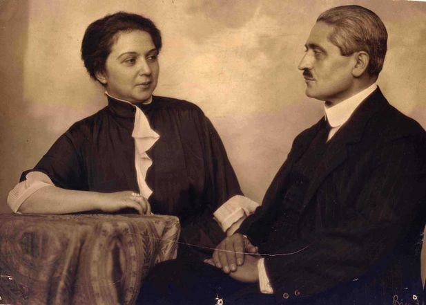 Sadrazam Talât Paşa, eşi Hayriye Talât Hanım ile 1921'de Berlin'de.