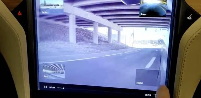 Tesla araç içi kamera kayıt
