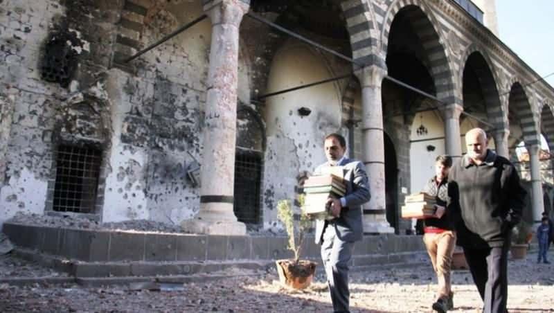 PKK tarafından yakılan bir cami