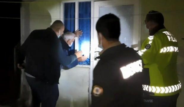 Baygın bulunan şeker hastası kadını polis kurtardı