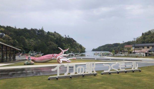 """Japonya'da Covid-19 yardım fonu ile """"kalamar heykeli"""" inşa edildi"""