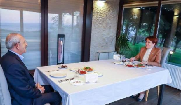 Kılıçdaroğlu ile Akşener iftarda bir araya geldi