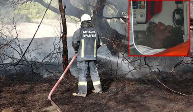 Ormanlık alanda kendisini yaktı, ağır yaralandı